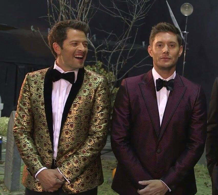 So Cute! Misha and Jensen-EW Halloween Edition featuring