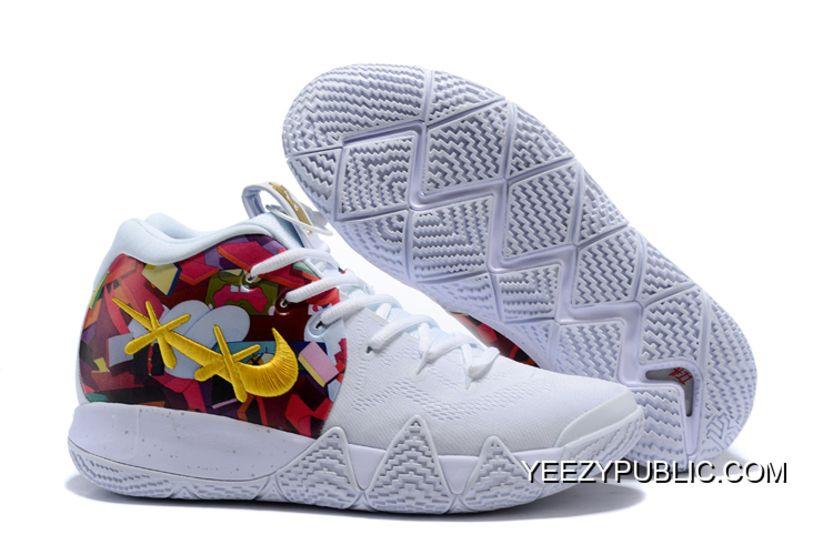 bb0234ee13a9 2019 的 New Year Deals Nike Kyrie 4 White Multi-Color 主题