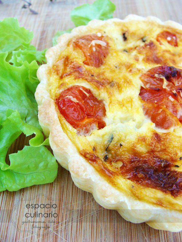 Espacio Culinario: Quiche de Tomates y Albahaca
