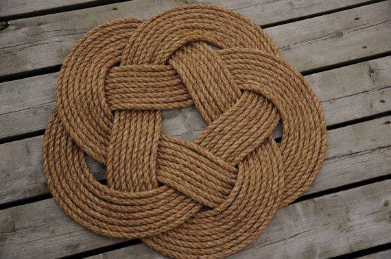 Nautical Rope Rug Rope Mat