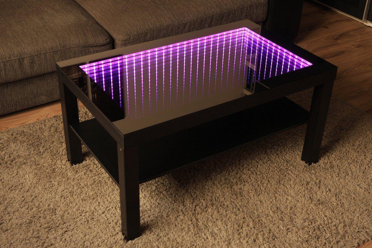 Modern Couchtisch Glastisch Beistelltisch Spiegel Tiefeneffekt Tisch Led 3d Ebay Couchtisch Modern Glastische Couchtisch