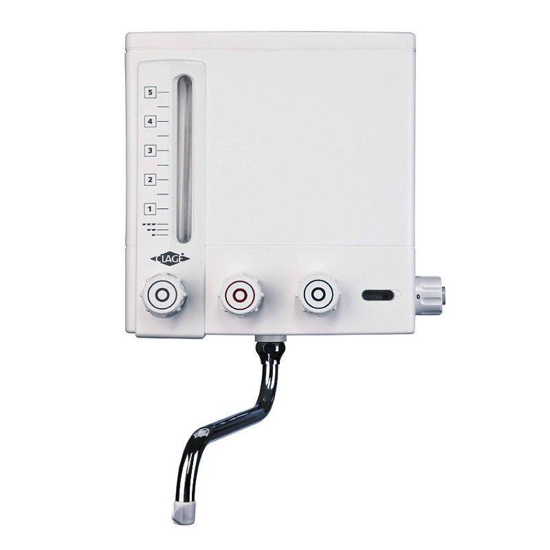 Ein Kochendwassergerät oberhalb einer Küchenspüle stellt