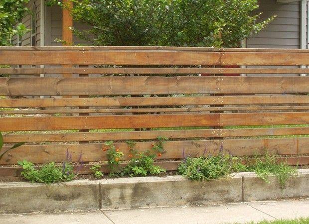 White Horizontal Wood Fence And Horizontal Wood Fence Diy
