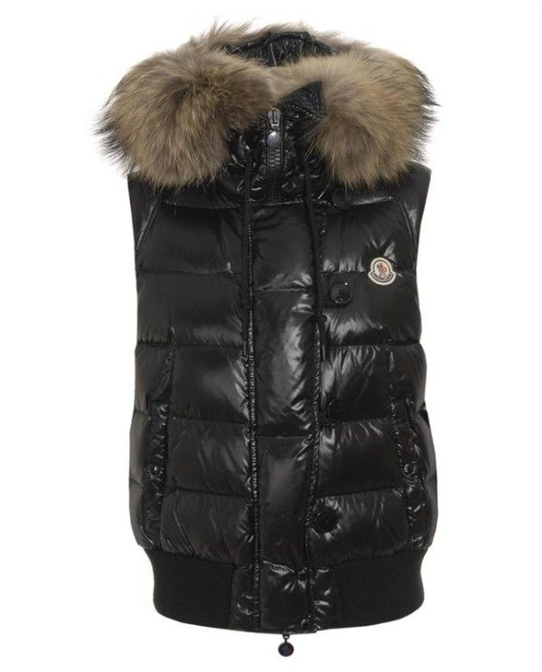 a8f5d53bd Moncler Tarn Quilted Gilet Racoon Fur Trimmed Hood Black  2900206 ...