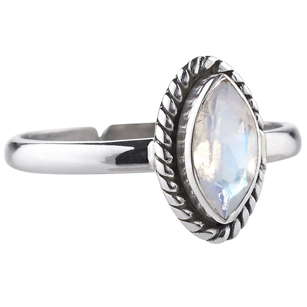 Phantom Rainbow Moonstone Ring from our brand new collection ❉ Sunset Lovers ❉ www.shopdixi.com // boho // bohemian // jewellery // jewelry // grunge // witchy // goth // gothic // hippie // summer // ocean // beach // sunset // moonstone // sterling silver // magical