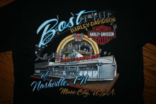 HARLEY DAVIDSON Motorcycles Music City Nashville, TN T-Shirt racing