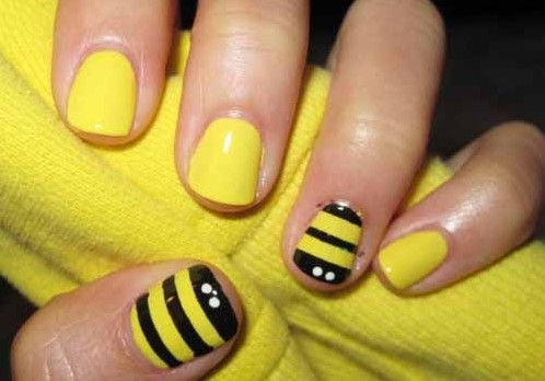 Image Detail For How To Make Bumble Bee Nail Art Design Info
