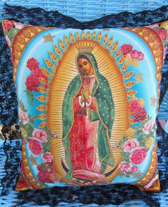 Virgen de Guadalupe pillow (Etsy)