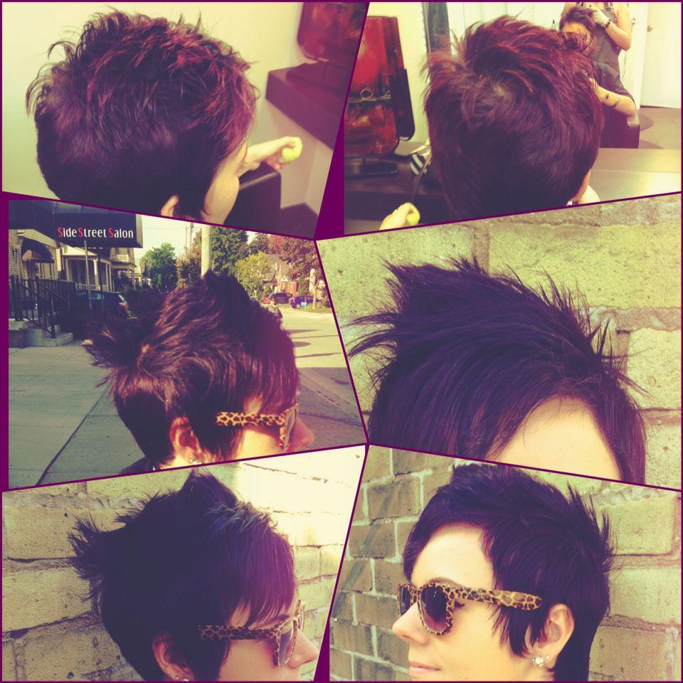 Purple hair hairbymeganmcdougall Pinterest