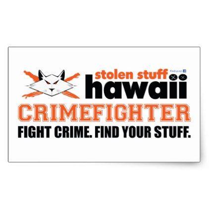 Stolen Stuff Hawaii Crimefighter Sticker - craft supplies diy custom design supply special