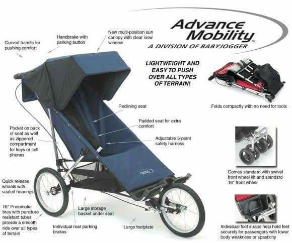 Baby Jogger Advance Mobility Freedom Special Needs Stroller 200 Lbs