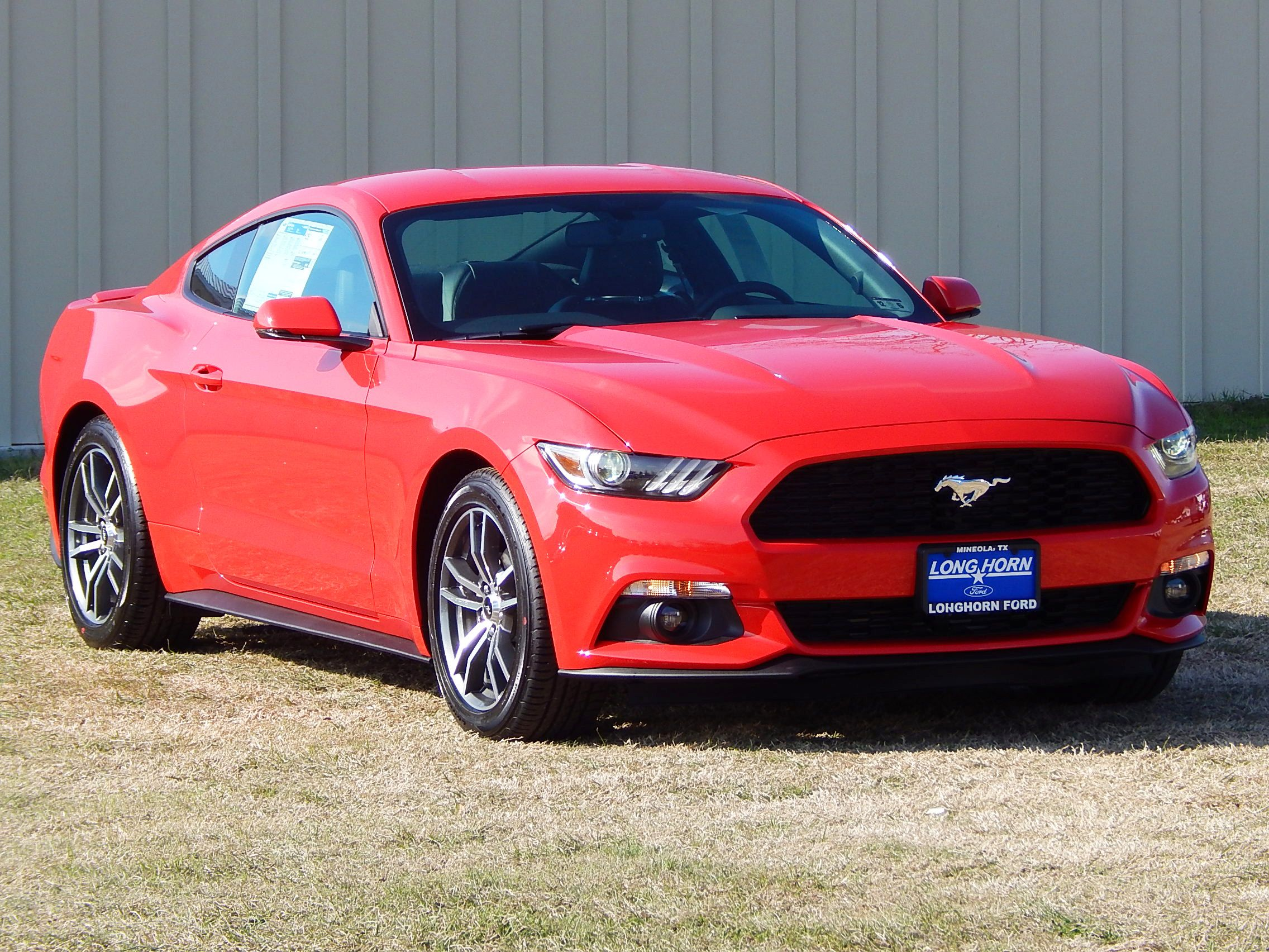 2015 Ford Mustang Ecoboost Premium In Race Red Mustang Ford Mustang Ecoboost Mustang Ecoboost Ford Mustang