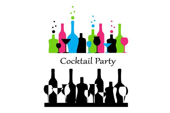 cocktail party by @Graphicsauthor