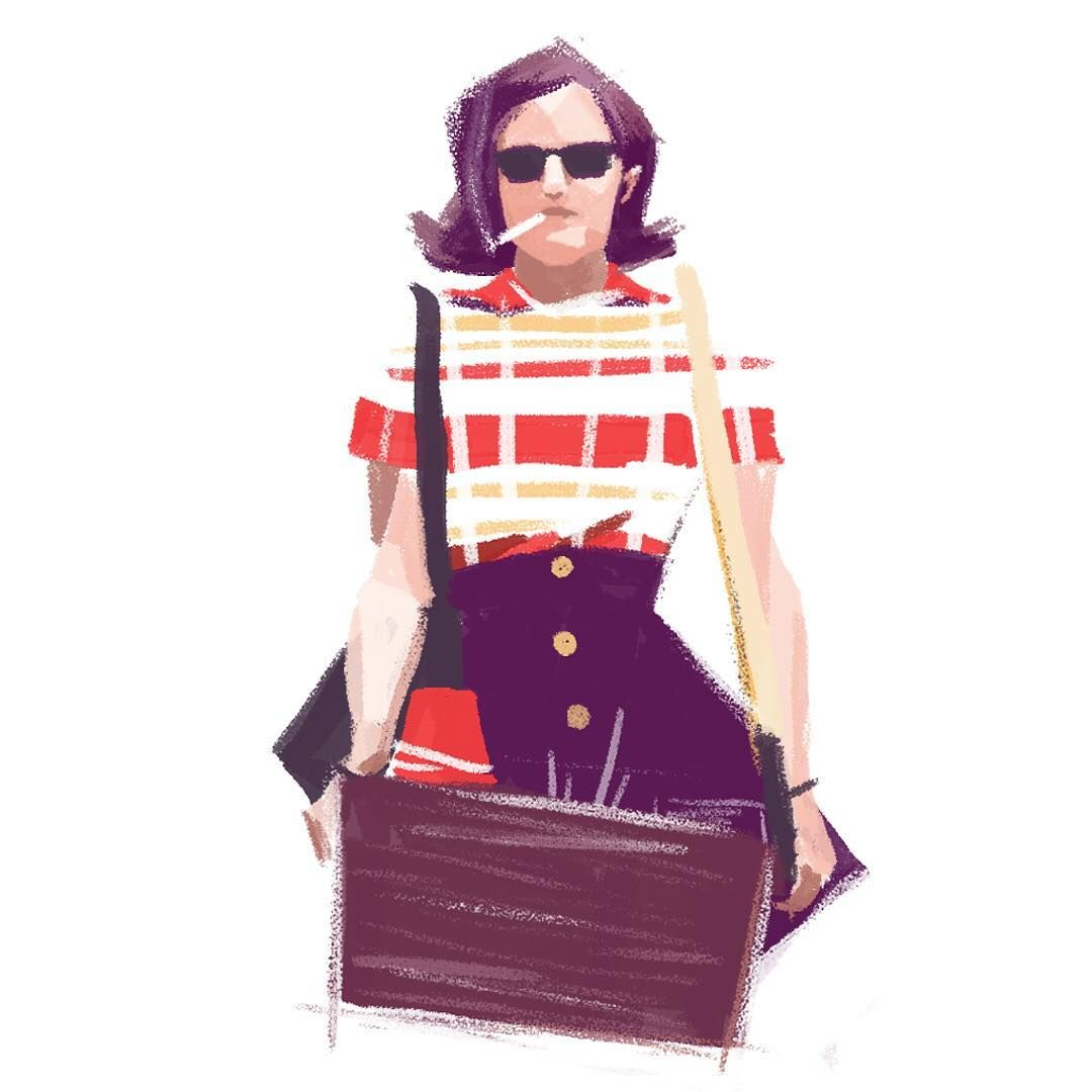 Alexandra Bond - Peggy Mad Men Illustration