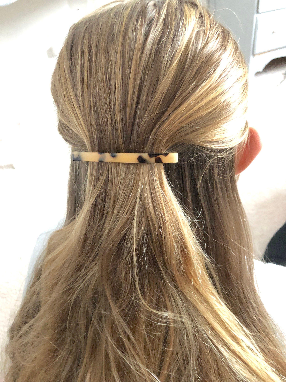 Braided heart Hair bar with clip closure