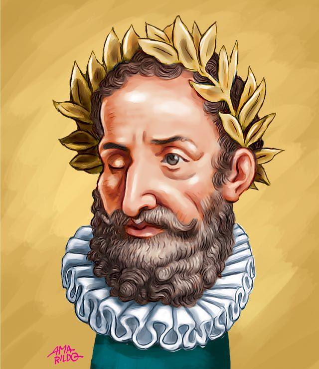 Luís de Camões | Caricatura (com imagens) | Luis de camoes ...