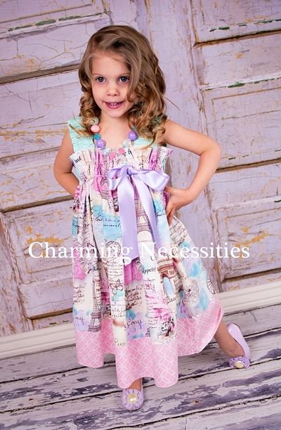 Weekend in Paris Ruffled Sundress by Charming Necessities