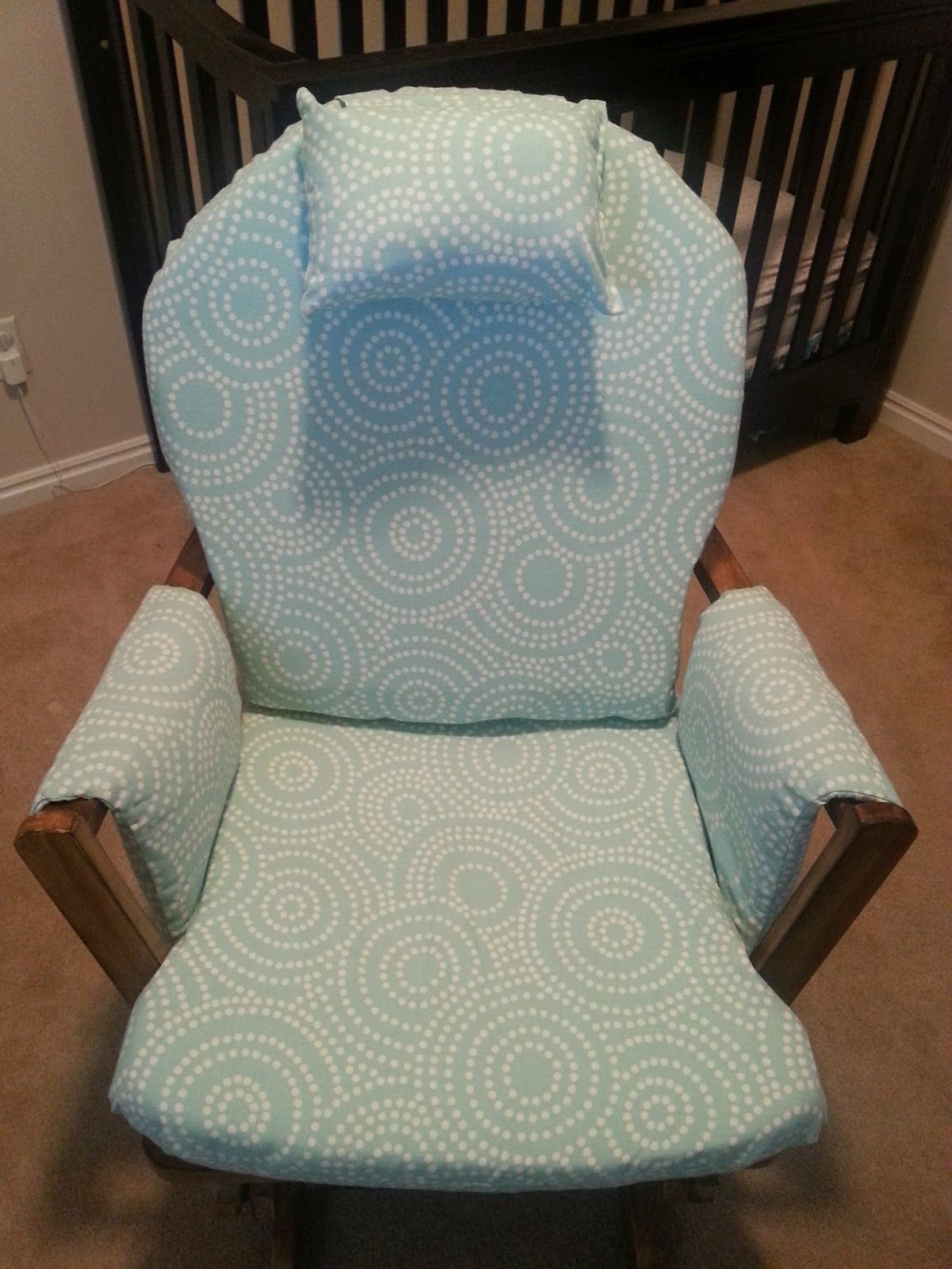 How To Recover Glider Rocking Chair Cushions Alera Elusion Singapore And Stain An Old I Got This One For