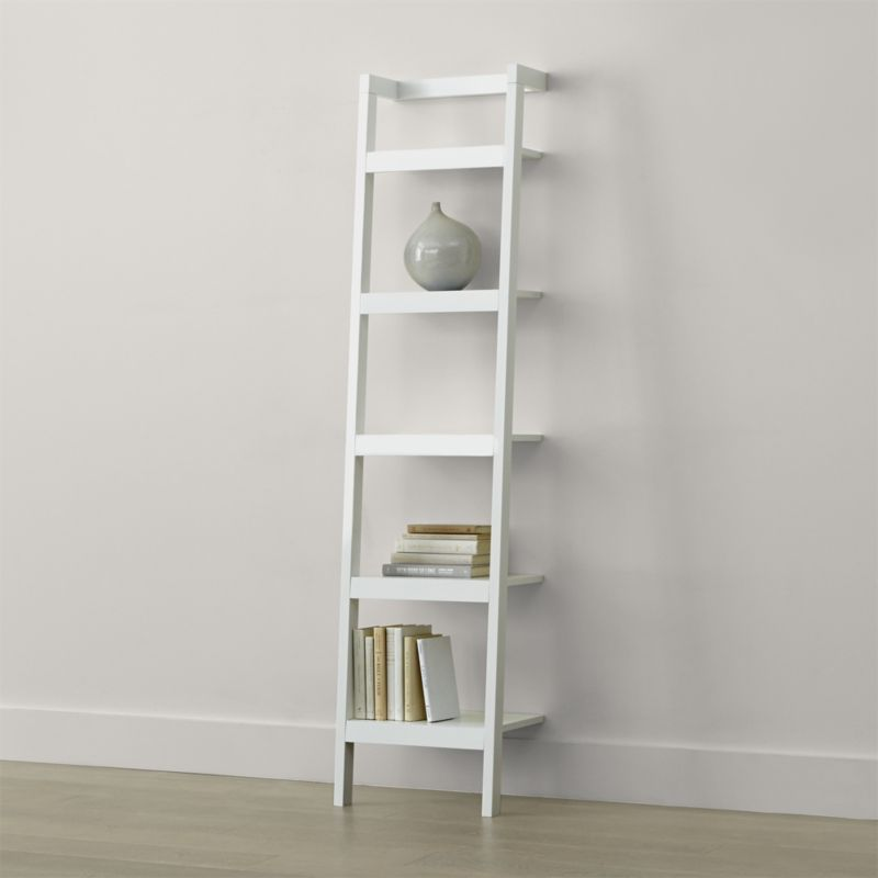 Shop Sawyer White Leaning Bookcase. Space-saving, clean-looking Sawyer uses  an ingenious leaning, modular design to creatively solve storage solutions