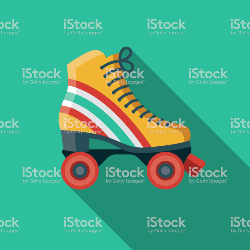 A Set Of 1970 S Themed Icon File Is Built In The Cmyk Color Space Retro Roller Skates Ilustration Design Retro