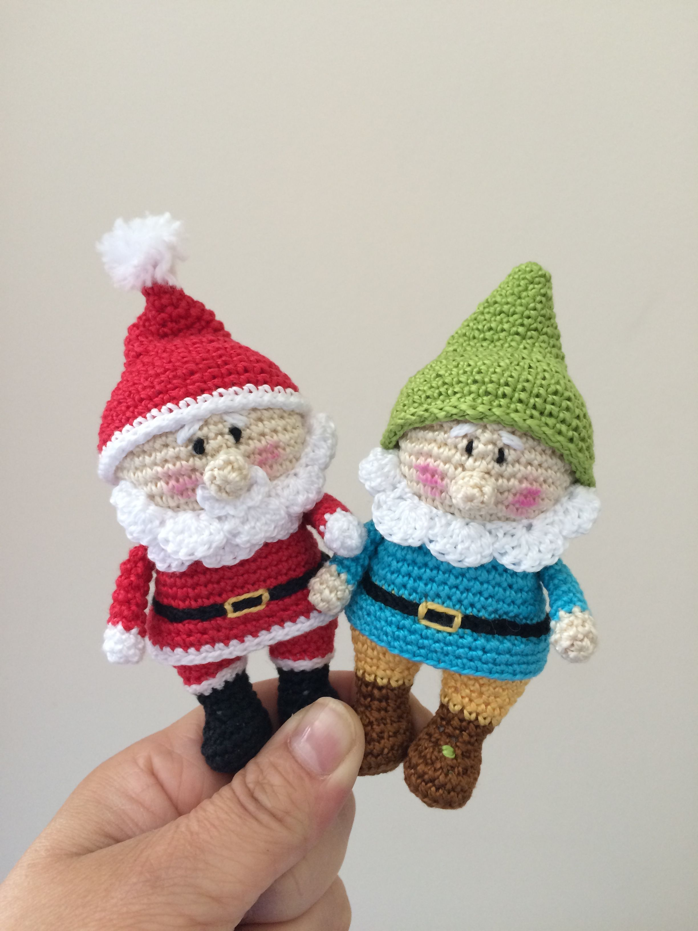 Mini snowman christmas ornament with free pattern crochetholic crocheted santa and gnome how cute bankloansurffo Image collections