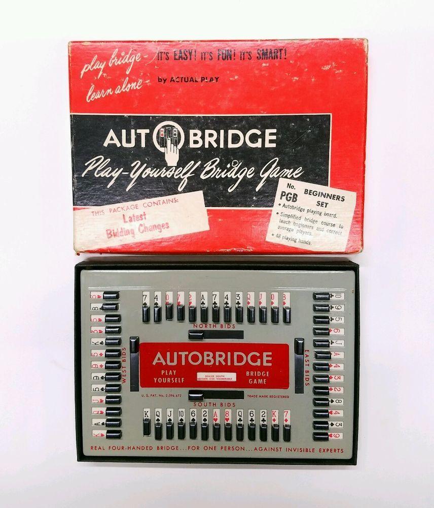 Vintage 1959 Autobridge Play Yourself Bridge Game PGB