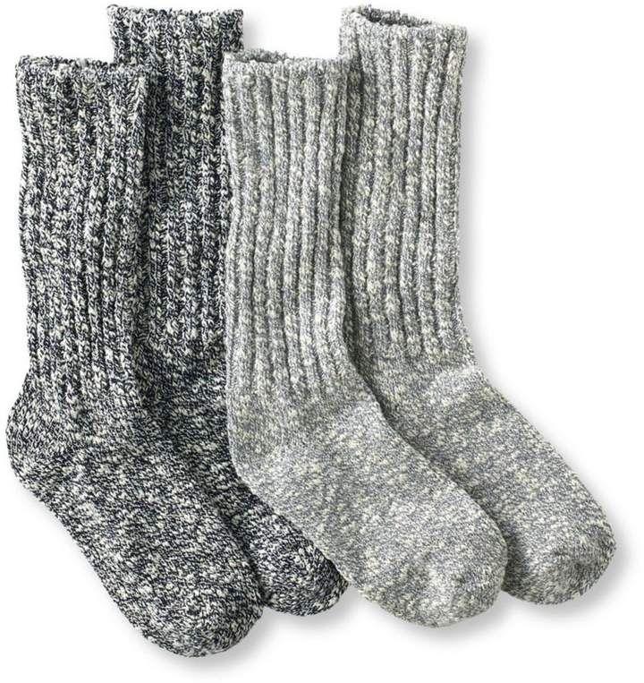 L L Bean L L Bean Men S Cotton Ragg Camp Socks Two Pack Camp Socks Mens Socks Wool Socks Mens