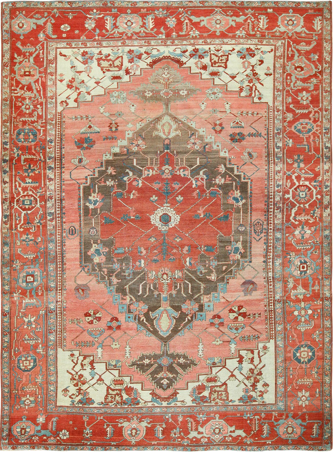 Room Size Antique Oriental Persian Serapi Rug 49391 Serapi Rug