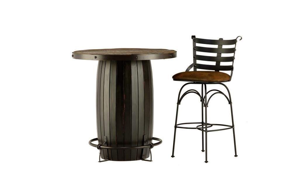 Antique Bistro Table And 2 Stools By International Furniture