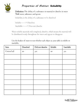 35++ Solubility worksheet answer key For Free