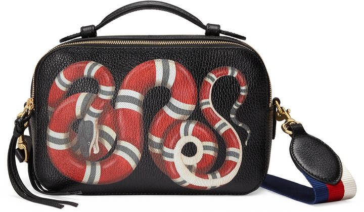 04ea4f85e0 Snake print leather top handle bag by Gucci on ShopStyle.   The Best ...