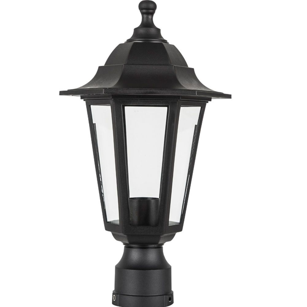 Black Outdoor Lamppost Head Lamp Post Outside Antique