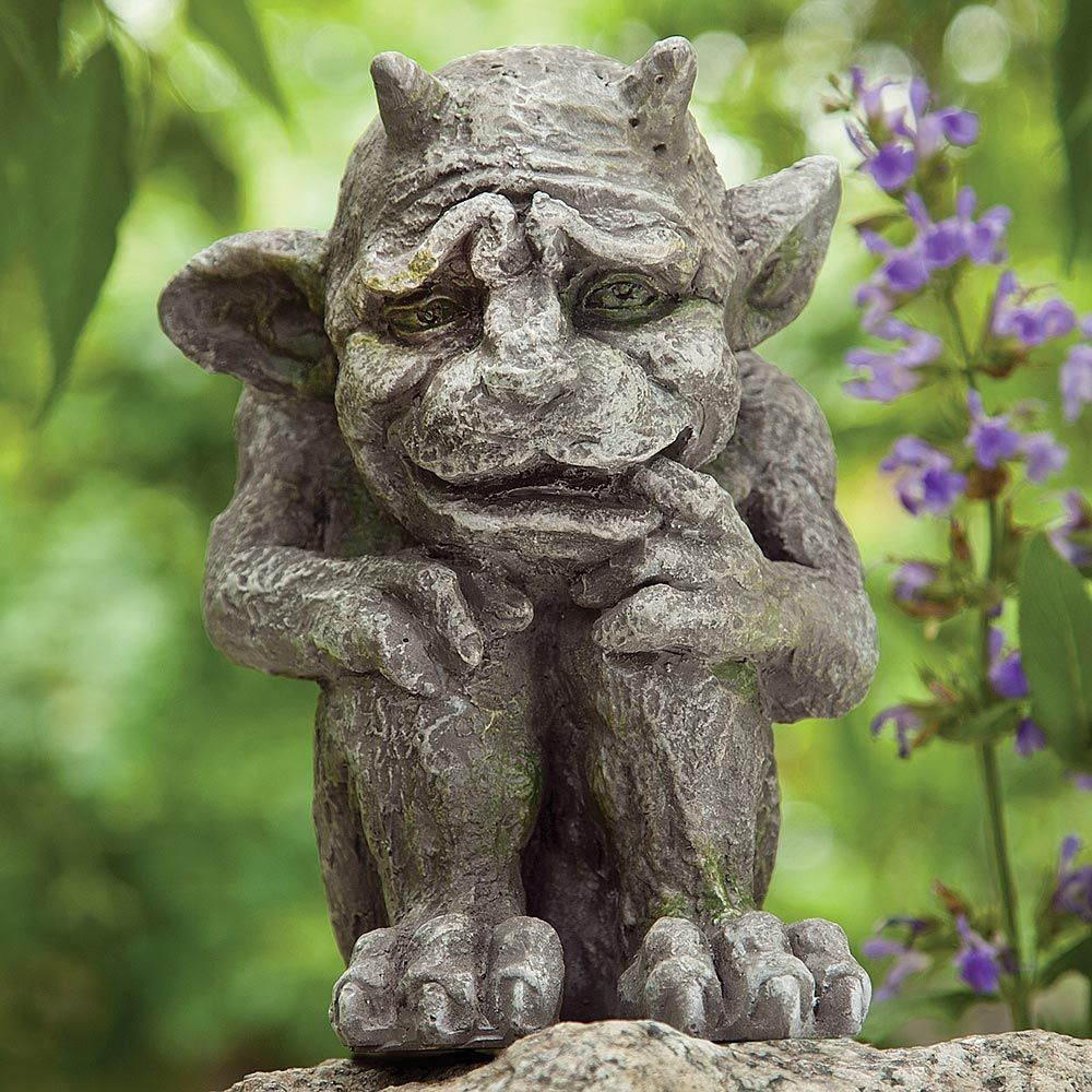 Garden Gargoyle Item 48035 14 99 Our Gargoyle Is A Pensive