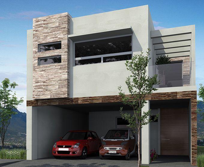 Resultado de imagen para fachadas minimalistas con terraza for Fachadas de casas modernas pequenas de infonavit