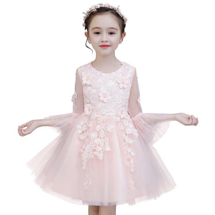 Mode Blume Mädchen Kleid Kinder Geburtstagsparty Kleider ...