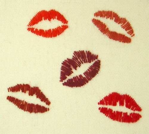 Lips Hand Embroidery Patterns Lips Helena Ericsson