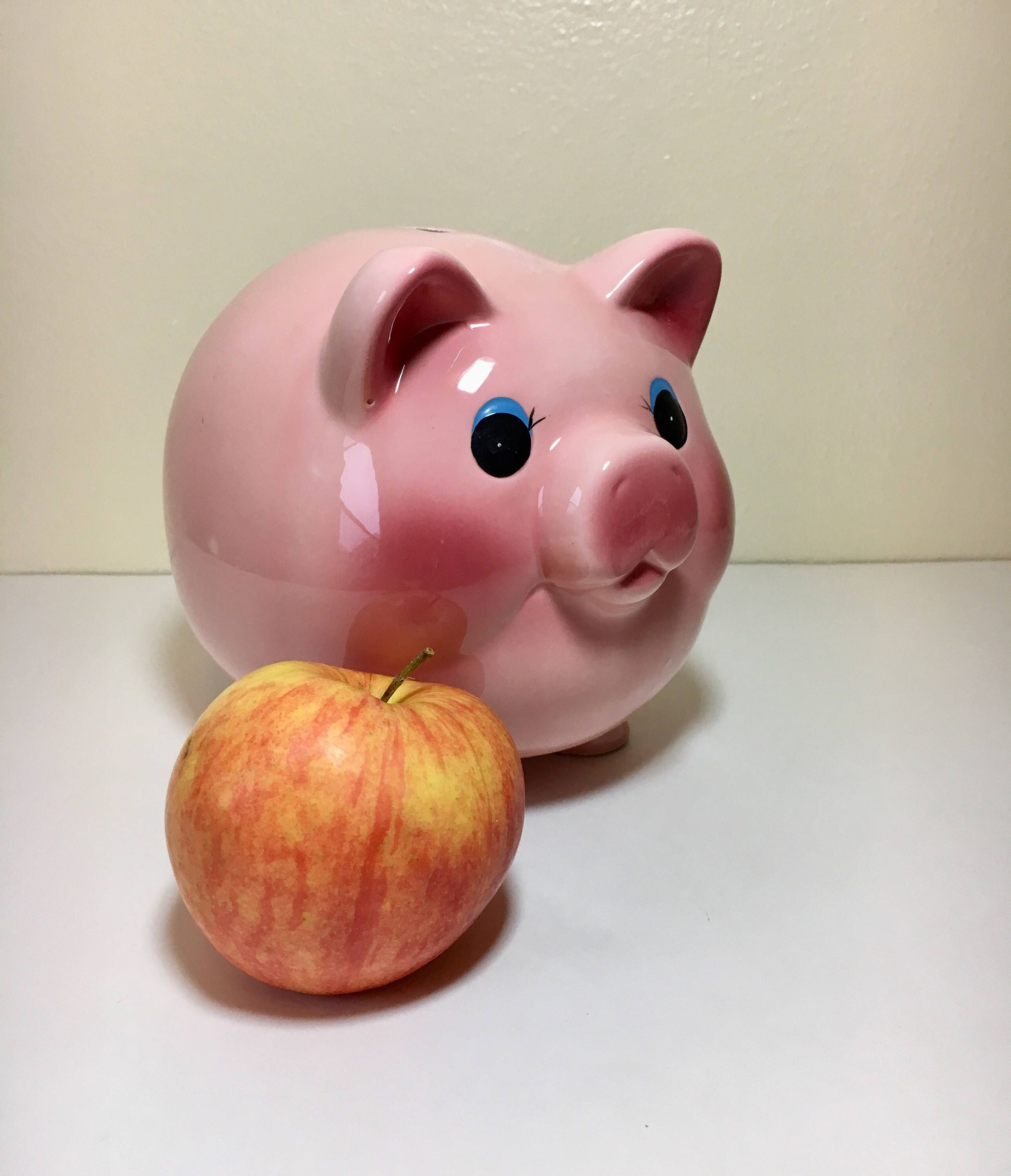 Pink Piggy Bank Childs Barnyard Bedroom Decor Glimmers In Time