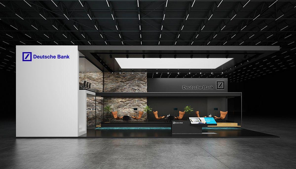 Deutsche Bank Exhibition Stand On Behance Exhibition Stand Stand Design Exhibit Design Inspiration