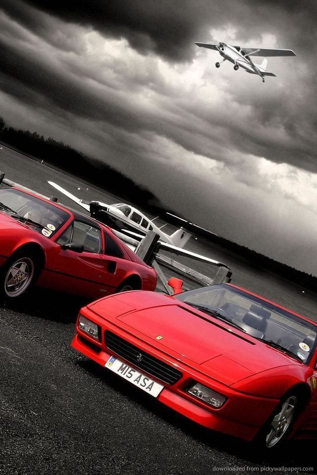 Download Red Ferrari Cars Wallpaper For IPhone 4