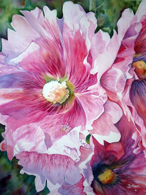 Jeanne Dehaan Watercolor Floral Watercolor Flower Painting