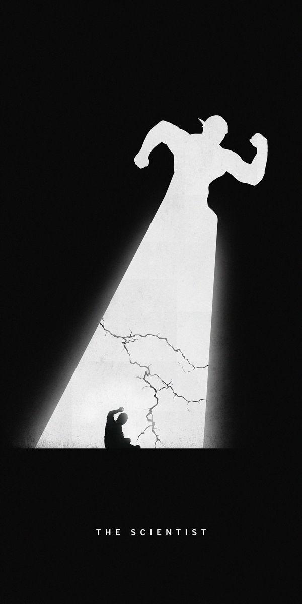 Silhouette Superhero Art - Past and Present Comparisons - Geektyrant  The Scientist