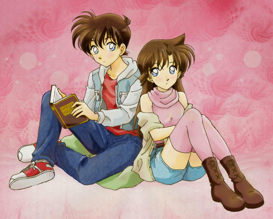 Shinichi and Ran by TSaianda on DeviantArt