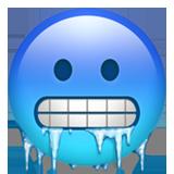 Cold Face On Apple Ios 12 1 Cold Face Emoji Blue Emoji