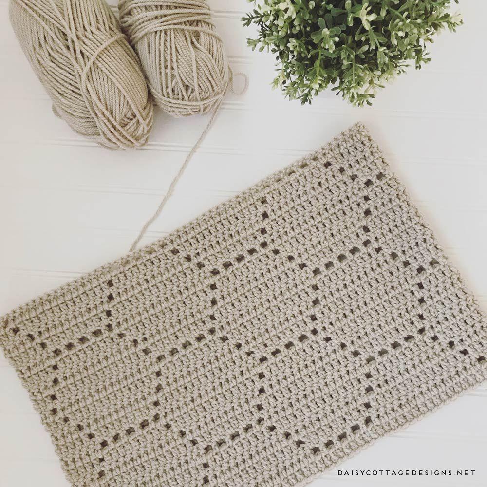 Beautiful honeycomb filet crochet blanket. Fun stitch and beautiful ...