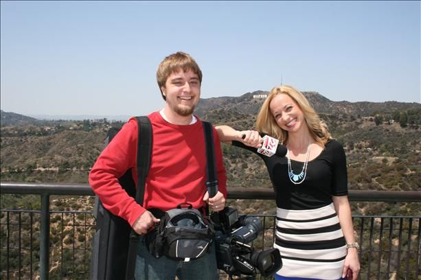 27 News' Amber Noggle and Drew Smith are in LA for a behind