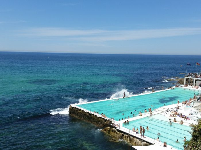 Bondi Iceberg Pools, Bondi to Coogee walk, Sydney, New South Wales, Australië