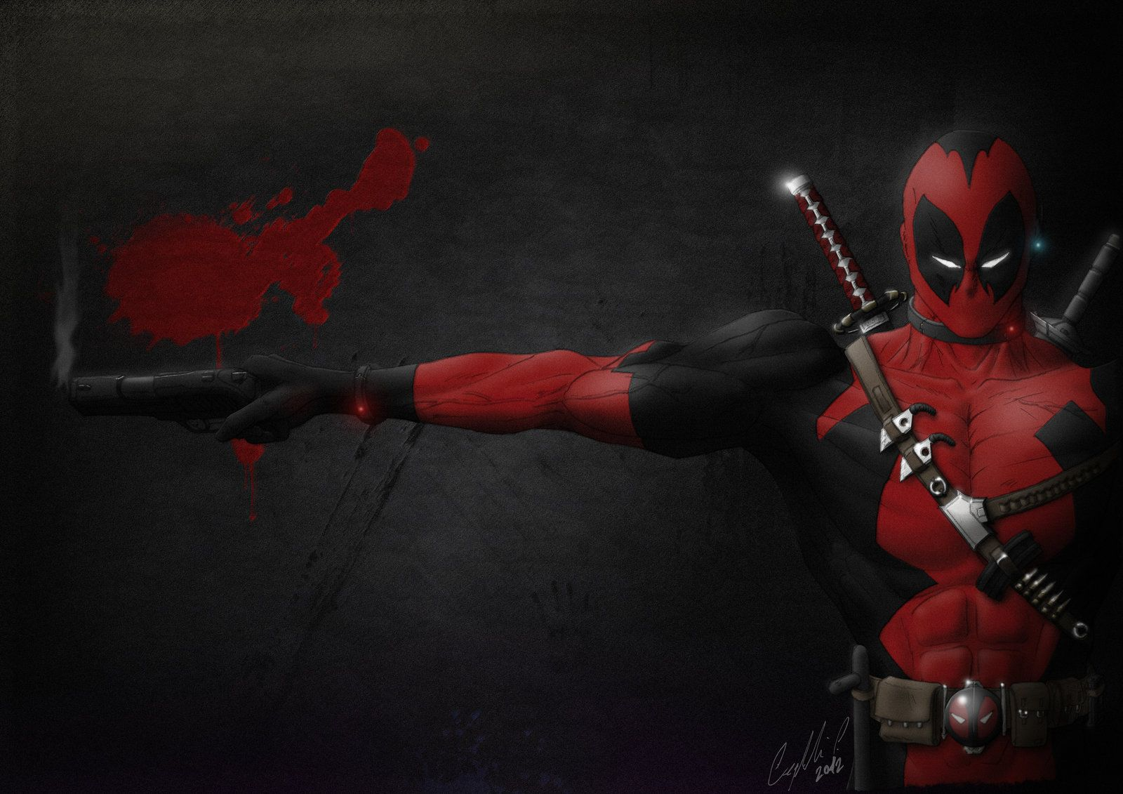 Deadpool Cool Fan Art Wallpaper HD. Free Desktop
