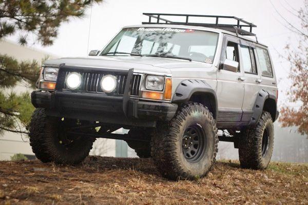 Rugged Ridge 11634 10 All Terrain Fender Flare Kit For 84 01 Jeep Cherokee Xj 4 Door Jeep Cherokee Jeep Xj Jeep Cherokee Xj