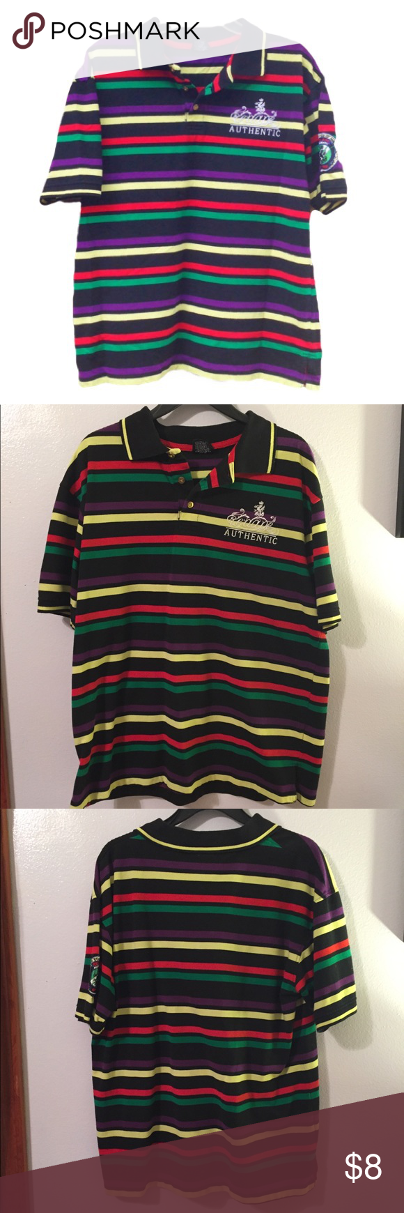 d51c94e3 Red Ape Men's multicolored Striped Polo Men's Red Ape Colorful Polo. Size  Large. Cotton & Polyester blend. Excellent condition Red Ape Shirts Polos
