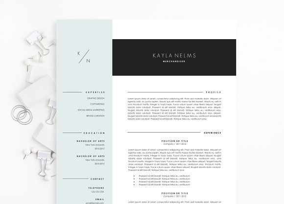 Minimalist Resume Template Minimalist Resume Template For Word  Modern Resume Template Modern .